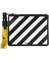 Off-White c/o Virgil Abloh Diagonal Logo Clutch Bag - Black
