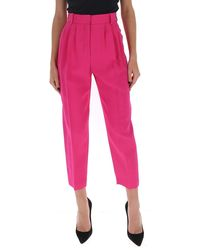 Alexander McQueen Cropped Tapered Pants - Pink