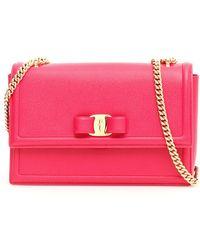 Ferragamo Ginny Crossbody Bag in Blue - Lyst a918094987