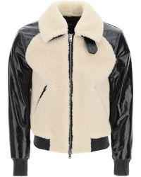 Amiri - Shearling And Leather Aviator Jacket - Lyst
