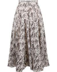Zimmermann Pleated Midi Skirt - Multicolor