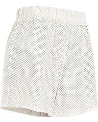 Prada High-waisted Perforated Shorts - White