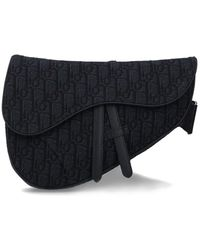 Dior Oblique Jacquard Saddle Bag - Black