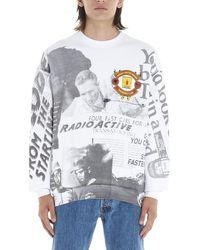 MSGM Manchester United Fc Logo Sweatshirt - Grey