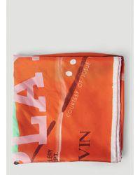 Lanvin Lavin X Gallery Dept. Printed Square Scarf - Orange