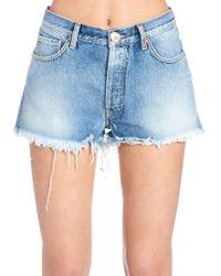 Alanui - Frayed Embroidered Mini Shorts - Lyst