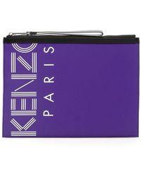 KENZO Logo Pouch - Purple