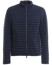 Save The Duck Quilted Nylon Puffer Jacket - Blue