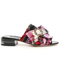 Dolce & Gabbana - Flower Print Sandals - Lyst