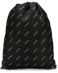 Balenciaga Explorer Drawstring Bag - Black