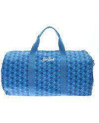Mc2 Saint Barth Logo Printed Duffle Bag - Blue