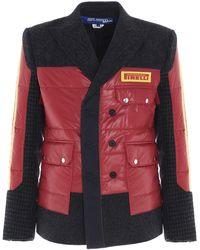 Junya Watanabe X Pirelli Patchwork Jacket - Red
