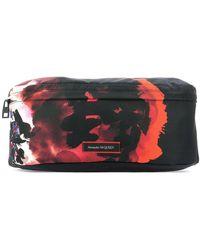 Alexander McQueen Graphic Printed Belt Bag - Black