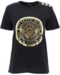 Balmain Coin Print T-shirt - Black