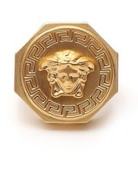 Versace Greca And Medusa Ring - Metallic