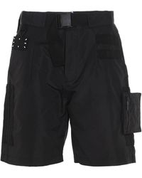 McQ Mcq By Alexander Mcqueen Other Materials Shorts - Black