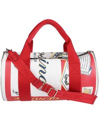 Moschino Printed Can Weekend Bag - Red