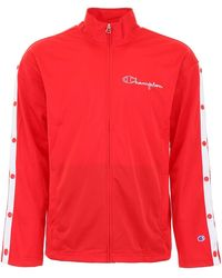 Champion Popper Track Jacket - Red