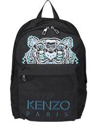 KENZO Mini Tiger Embroidered Backpack - Black