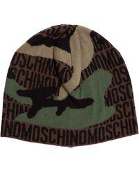 Moschino Logo Motif Beanie - Multicolor