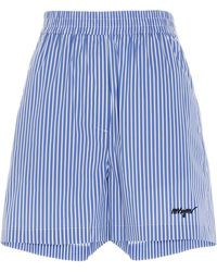 MSGM Striped Bermuda Shorts - Blue