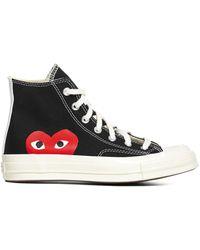 COMME DES GARÇONS PLAY X Converse Big Heart High Top Sneakers - Black