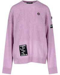 Raf Simons Patch Detail Knitted Jumper - Purple