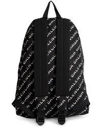 Balenciaga Wheel Gradient Logo Backpack - Black