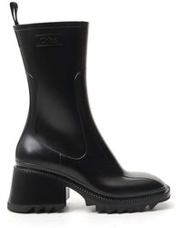 Chloé Betty Chunky Platform Boots - Black
