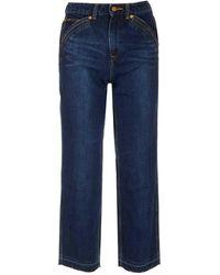 Self-Portrait X Lee Straight-leg Jeans - Blue