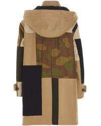 DSquared² Beige Wool Coat - Brown