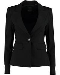 Pinko Gomberto Single-breasted One Button Jacket - Black