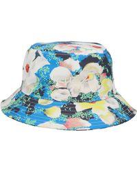 KENZO X Vans Gardenias Print Bucket Hat - Blue