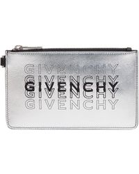 Givenchy Embroidered Logo Pouch - Metallic