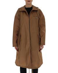 Prada - Garbardine Hooded Raincoat - Lyst