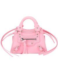 Balenciaga Neo Classic Nano Top Handle Tote Bag - Pink