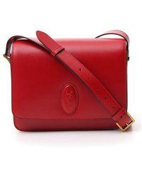 Saint Laurent Besace Cross-body Bag - Red