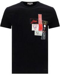 Alexander McQueen Label Printed T-shirt - Black