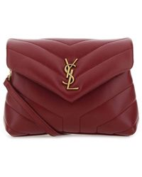 Saint Laurent Leather Loulou Toy Crossbody Bag - Red