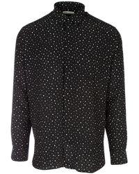 Saint Laurent Classic Polka Dots Shirt - Black