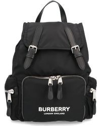 Burberry The Rucksack With Logo - Black