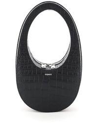 Coperni Swipe Embossed Mini Tote Bag - Black