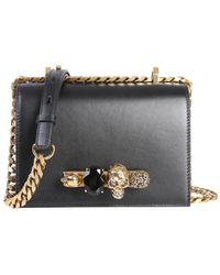 Alexander McQueen - Small Embellished Shoulder Bag - Lyst