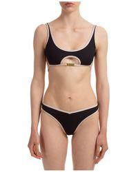 Gcds Oblò Logo Plaque Bikini Set - Black