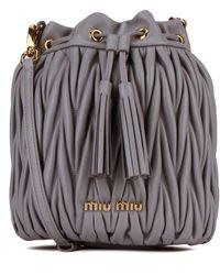 Miu Miu Matelassé Bucket Bag - Grey