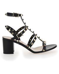 Valentino Garavani Garavani Rockstud Ankle Strap Sandals - Black