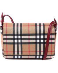 Burberry - Checked Crossbody Bag - Lyst