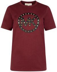 MICHAEL Michael Kors Studded Logo T-shirt - Red