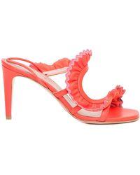 RED Valentino Redvalentino Garavani R Curly Heel Sandals