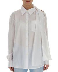 Prada Bow-detail Shirt - White